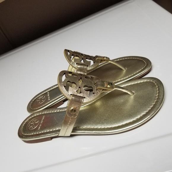 211edd425b82ac Tory Burch Miller Sandal Thong Spark Gold 7.5